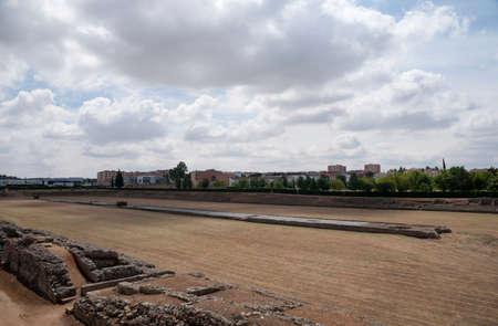 Remains of ancient Roman circus Mrida, Spain Stock Photo