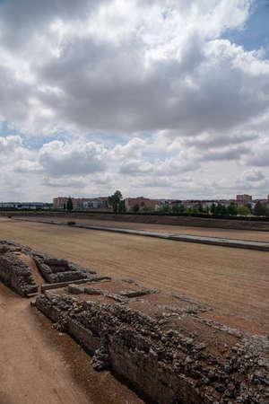 circuses: Remains of ancient Roman circus Mrida, Spain Stock Photo
