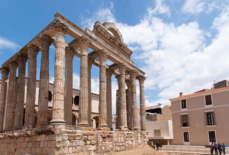 quenching: Roman temple of Diana in Mrida, Spain