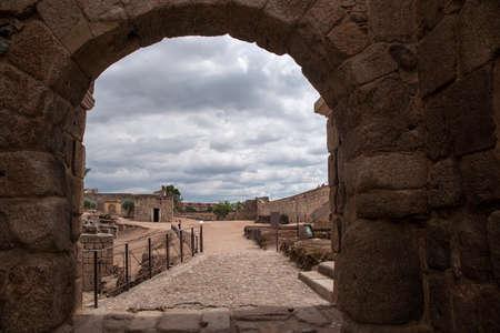 monumental: monumental area of Mrida kasbah, Spain