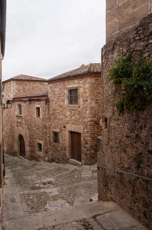 extremadura: Cceres beautiful medieval town in the community of Extremadura, Spain Stock Photo