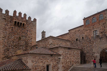 monumental: Beautiful and monumental city of Caceres located in the region of Extremadura, Spain