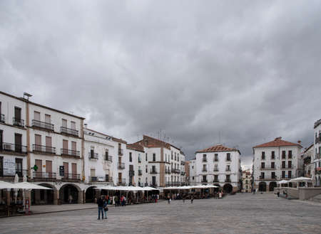 monumental: Cceres monumental main square, Spain Stock Photo