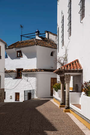 town planning: Streets of the town of Jimena LBAR in the province of Mlaga, Andalusia