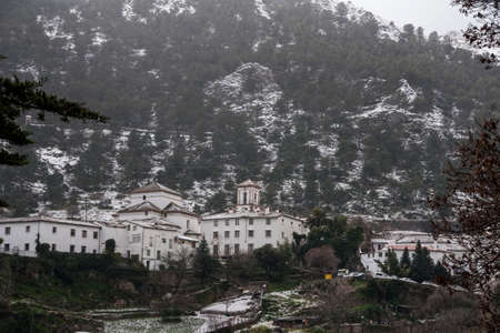 andalusia: snowy town of Grazalema, Andalusia