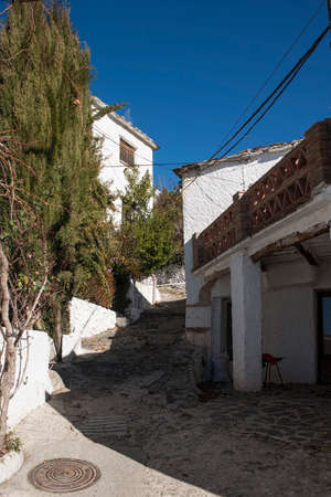 town planning: Rural architecture of the streets of the municipality of Bubin in the Poqueira Granada Province
