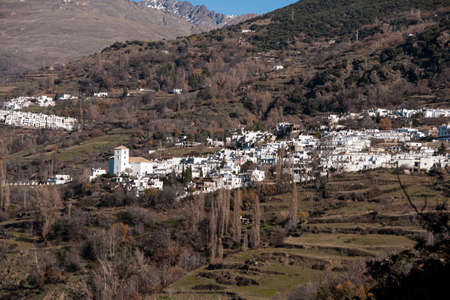 town planning: Andalusian villages with rural charm of the Alpujarras Bubin in the Poqueira Granada Stock Photo