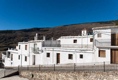 Beautiful streets of the municipality of Capileira in the Alpujarras of Granada, Spain