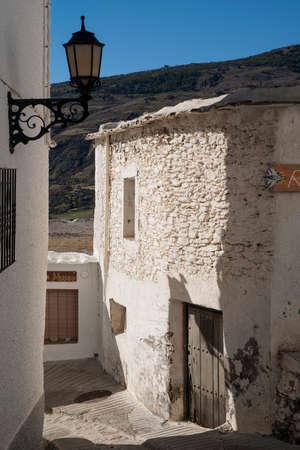 town planning: Walk through the streets of Capileira in the Alpujarras of Granada