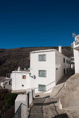 town planning: Walk through the streets of Capileira in the Alpujarras of Granada