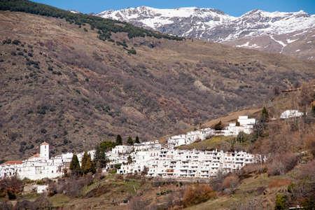 town planning: overlooking the village of Capileira in the Alpujarras of Granada Stock Photo