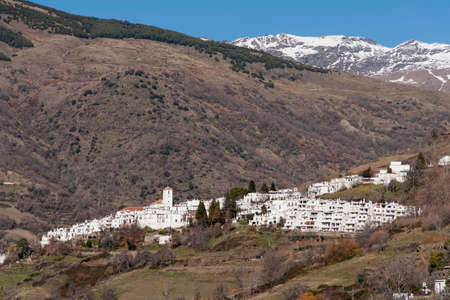 town planning: overlooking the village of Capileira in the Alpujarras of Granada Stock Photo