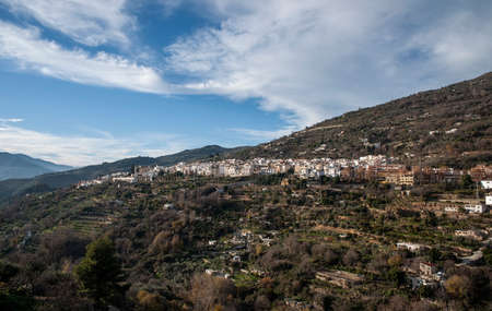 views of the municipality of Lanjar�n in the province of Granada Stock Photo