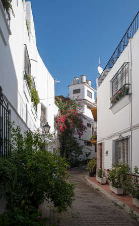 town planning: Streets of old town of Marbella, Andalusia