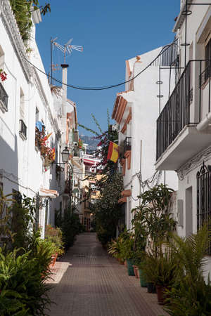 town planning: Marbella town streets adorned with plants and flowers