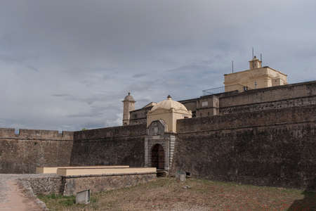 architecture monumental: ancient fortress of Santa Lucia in the Portuguese town of Elvas, Portugal