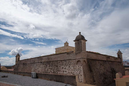 building monumental: ancient fortress of Santa Lucia in the Portuguese town of Elvas, Portugal