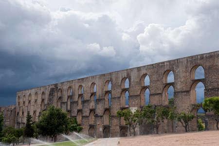 aqueduct: Amoreira Aqueduct in Elvas Alentejo Portugal Editorial