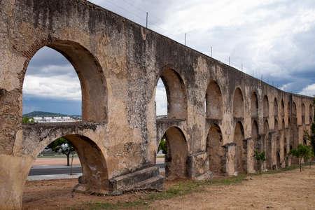 aqueduct: Monuments of Portugal Amoreira Aqueduct in Elvas in Alentejo