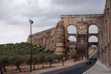 aqueduct: Amoreira Aqueduct in Elvas in Alentejo Portugal