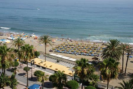 'costa del sol': beaches of the Costa del Sol, Marbella Stock Photo
