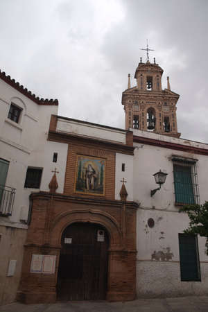 building monumental: Facade of the convent of Santa Paula, Seville Stock Photo