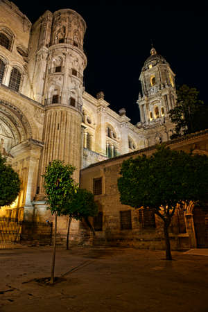 edification: Cathedrals of Spain  a, Mlaga Stock Photo