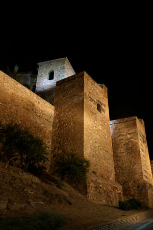 building monumental: Old Almohad fortress of Mlaga, Andalusia