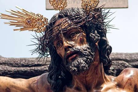 fraternidad: Cristo de la Hermandad de la Sed, Pascua en Sevilla Foto de archivo