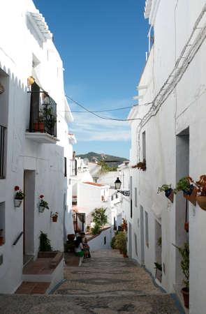 frigiliana: White villages of Andalusia, Frigiliana in the province of Mlaga Stock Photo