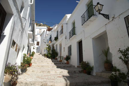 White villages of Andalusia, Frigiliana in the province of Mlaga Stock Photo