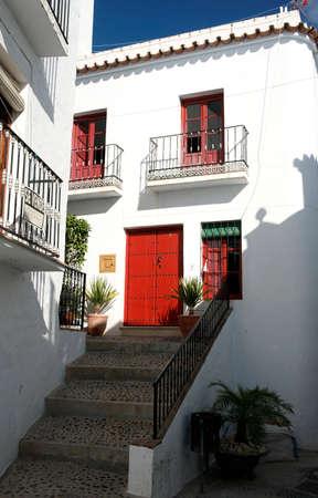 frigiliana: Beautiful streets of the Andalusian town of Frigiliana in the province of Mlaga, Andalusia