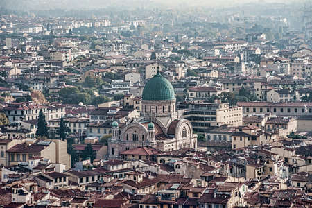 town planning: views of the monumental city of Florence, Italy