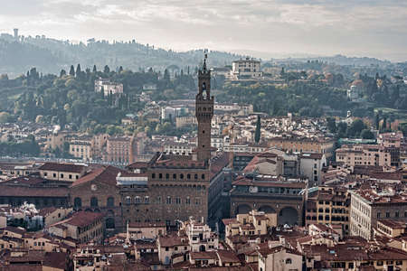 edification: Views of the monumental town of Florence in Italy Stock Photo