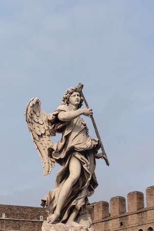bernini: Stone sculpture of an angel by Bernini, Rome