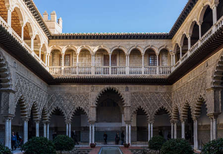 real renaissance: Patio of the Maidens Real Alczar of Seville, Andalusia