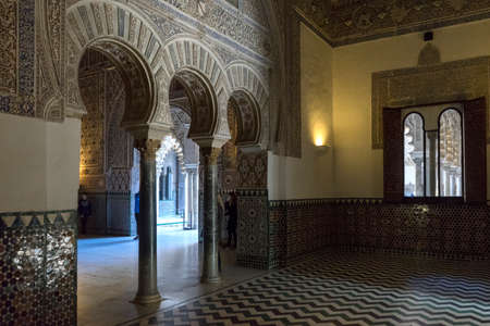Real Alczar of Seville, Andalucia, Hall of Ambassadors Editorial