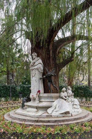 illustrious: monument dedicated to the poet Gustavo Adolfo Bcquer in Seville