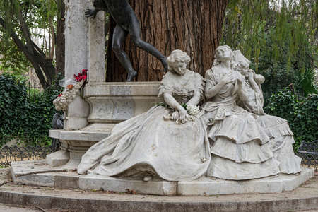 poet: monument dedicated to the poet Gustavo Adolfo Bcquer in Seville