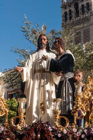fraternidad: hermandad del beso de Judas, semana santa de Sevilla, Espa�a