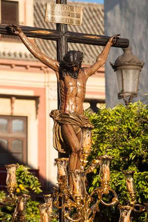 fraternidad: javieres de la procesi�n de la hermandad a trav�s de las calles de Sevilla en Pascua