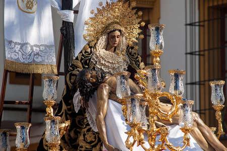 fraternidad: hermandad del Baratillo, Semana Santa de Sevilla Foto de archivo