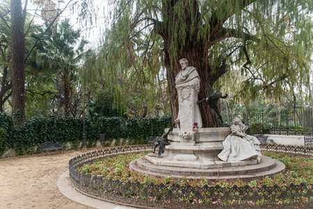 metropolis image: monument dedicated to the poet Gustavo Adolfo Becquer in Seville Stock Photo