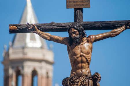 fraternidad: Semana Santa de Sevilla, Hermandad de la Sed Foto de archivo