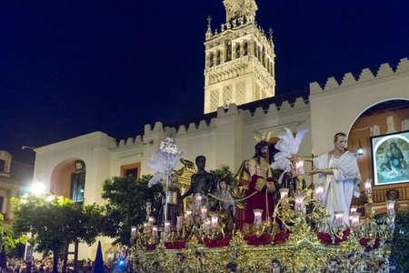 fraternidad: Paso de misterio de la Hermandad de San Benito, Pascua en Sevilla