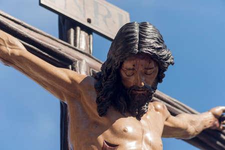 sorority: Death of Jesus on the cross, sorority students, Holy Week in Seville Stock Photo