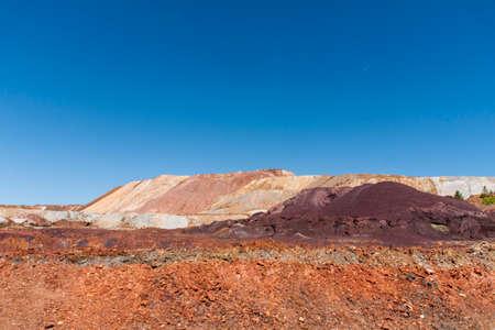 huelva: beautiful mining landscape Rio Tinto mines in Huelva, Spain