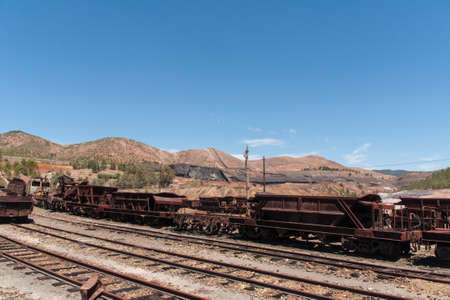landscapes of Rio Tinto mining enclave in the province of Huelva, Andalusia