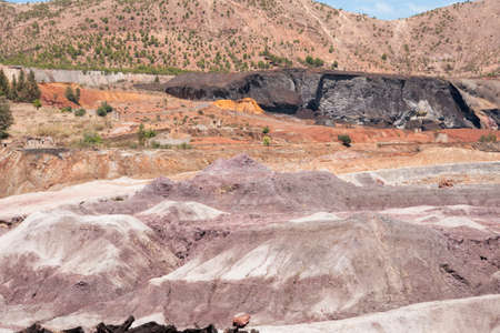 huelva: landscapes of Rio Tinto mining enclave in the province of Huelva, Andalusia