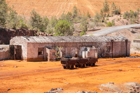 province: Rio Tinto mining landscape in the province of Huelva, Andalusia Stock Photo